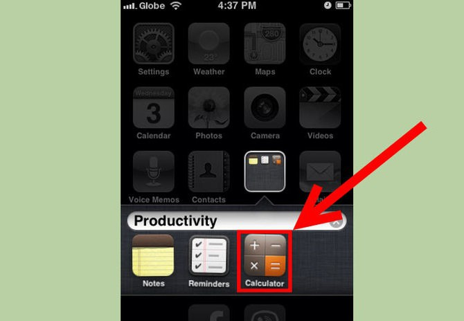 Как сделать на айфоне одну папку для  147