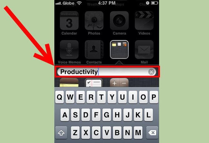 Как создать папку в меню айфон 5