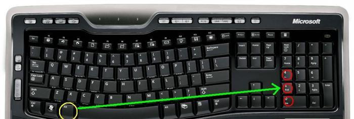 Где на клавиатуре знак градуса