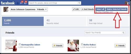 списки друзей в фейсбук
