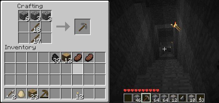 Как сделать уголь в майнкрафте