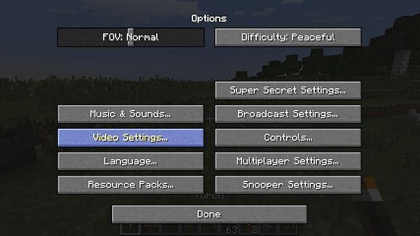 how to turn off rain particles in minecraft