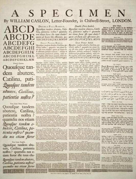 Виды шрифтов и их классификация. Использование разных видов шрифтов