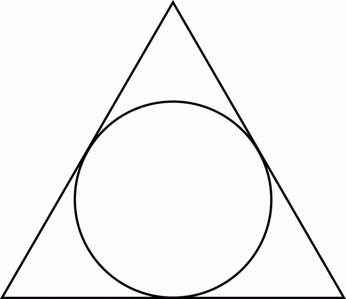 треугольный круг картинки черный