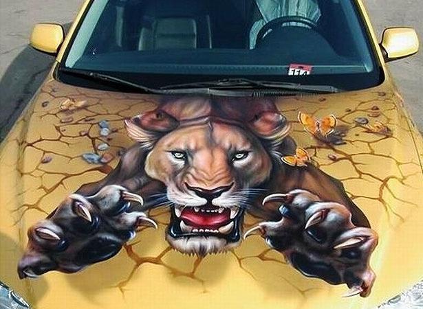Рисунок на дисках автомобиля