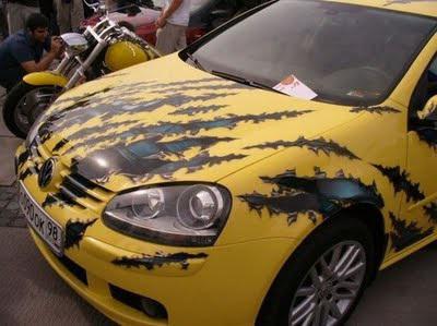 рисунок на авто на плёнке