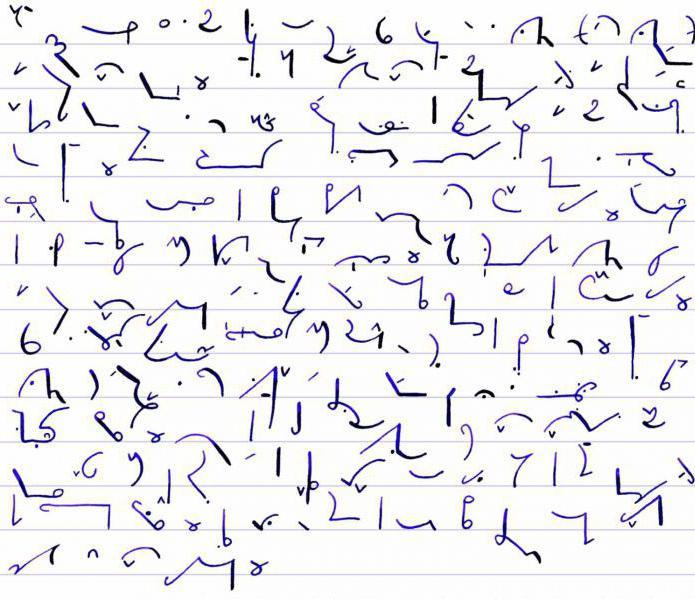 символы стенографии