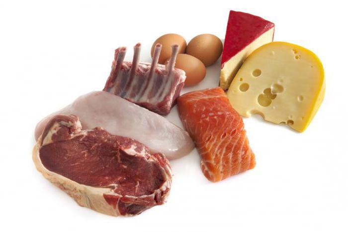 количество белков в продуктах таблица
