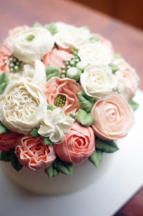 розы из крема