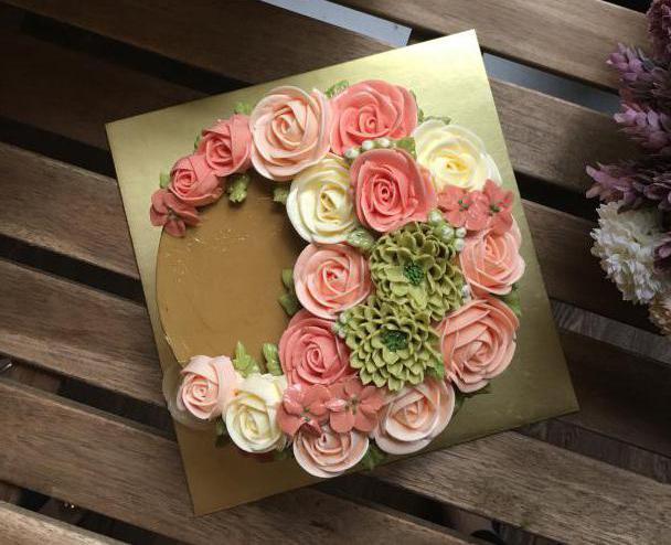 розочки на торт