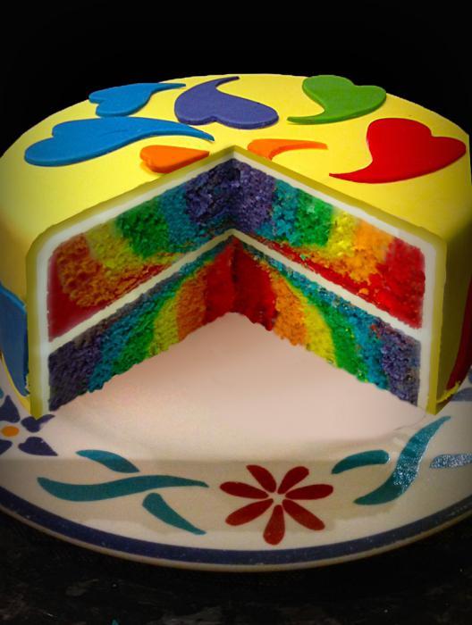 торт радуга рецепт фото