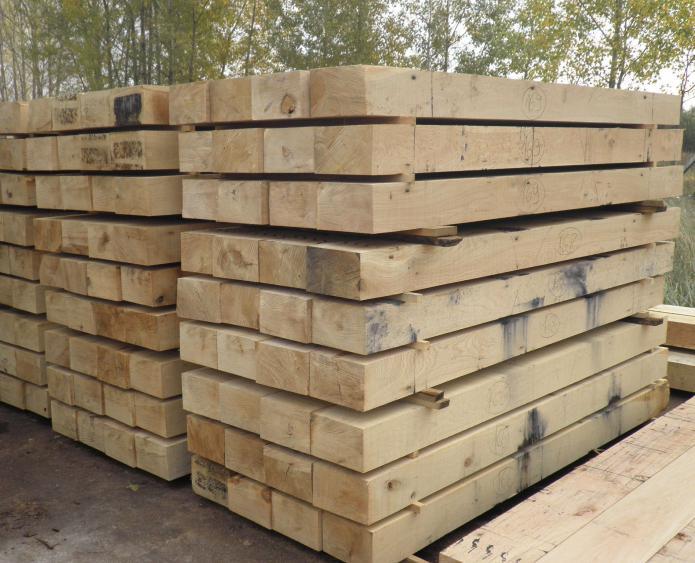 Размер шпалы деревянной железнодорожной