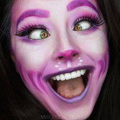 макияж чеширского кота на хэллоуин