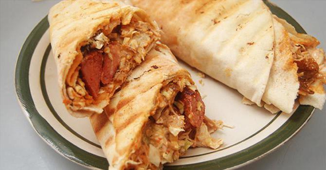 шаурма рецепт в домашних условиях с колбасой