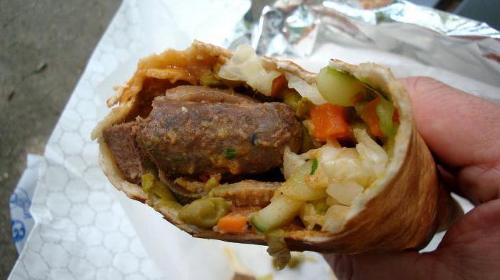 Шаурма с колбасой - пошаговый 24