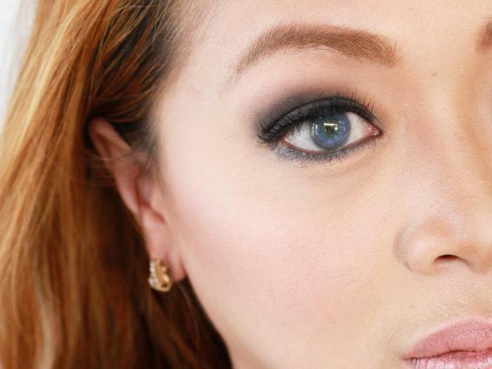 макияж серо зеленые глаза темные волосы