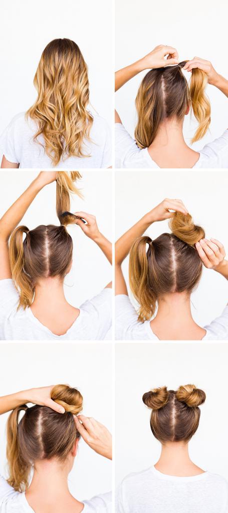 как сделать шишку на длинные волосы