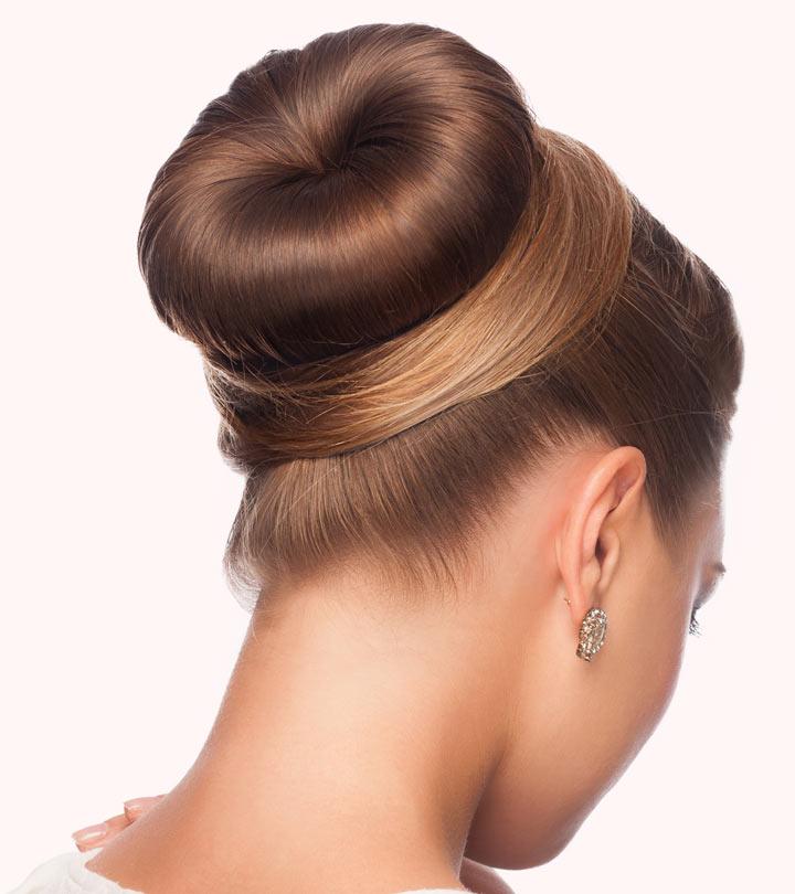 шишка из волос - вид сзади
