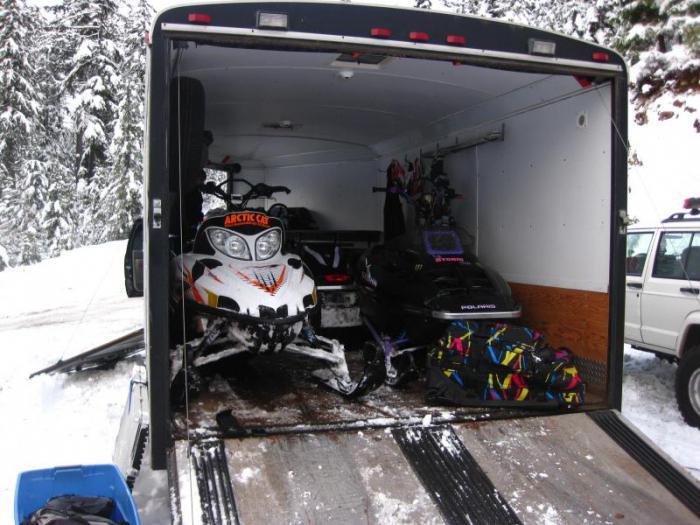 прицепы для снегоходов и квадроциклов