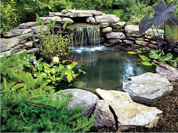 Водопад своими руками видео фото