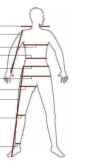 Таблица размеров мужской одежды как