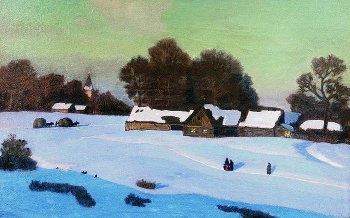 Картина «Зимний вечер» Крымова: описание, сочинение по карти…