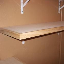 деревянный стеллаж в гараж