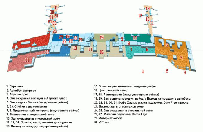 Схема полетов в аэропорт домодедово