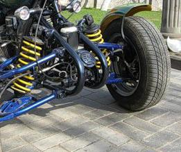 Самодельный квадроцикл из Урала