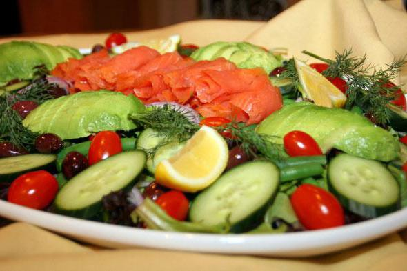 рецепт салата оливье из семги