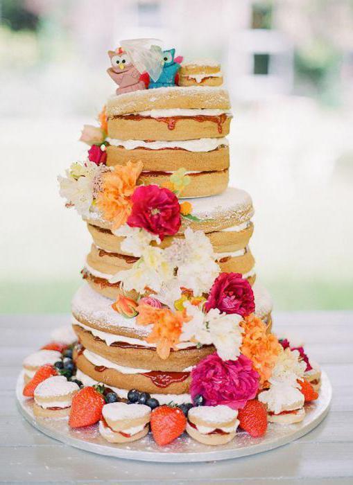 торт в стиле рустик мастер класс