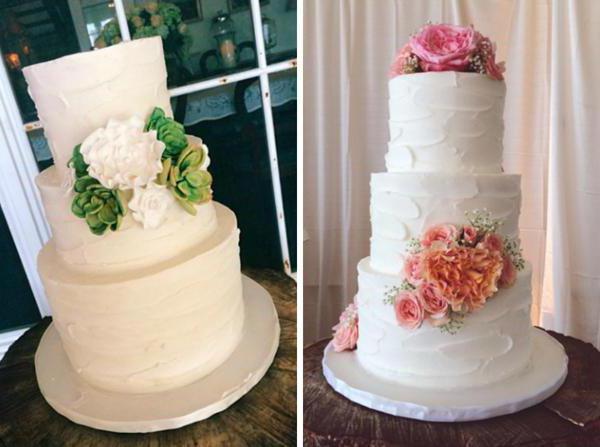 украшение торта в стиле рустик