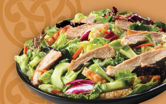 салат диетический с куриной грудкой