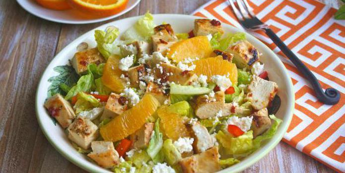 диетический салат с куриной грудкой рецепт