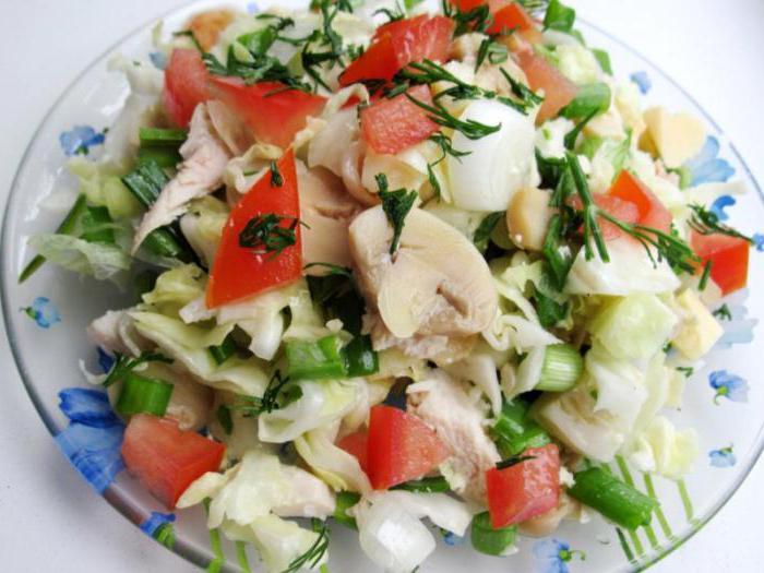 диетический салат с куриной грудкой с фото