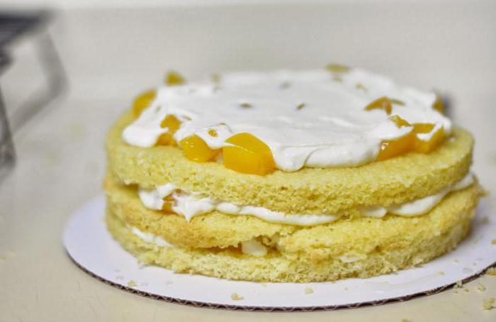 торт с персиками фото