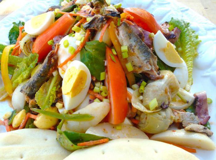 салат из сардины консервированной с рисом