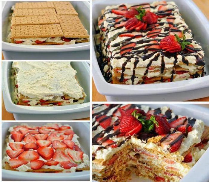 как приготовить десерт из печенья