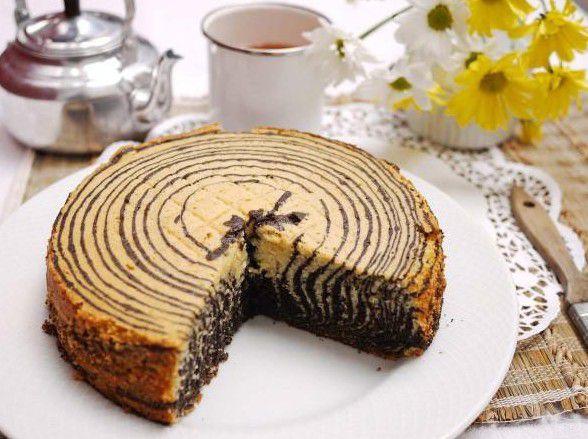 Торт зебра вкусно и просто