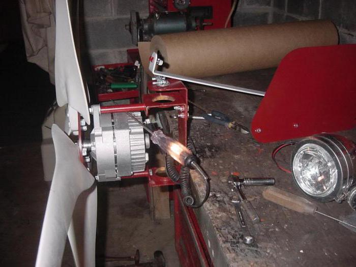 Как сделать ветрогенератор из автомобильный генератор