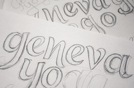 Нарисованные буквы карандашом