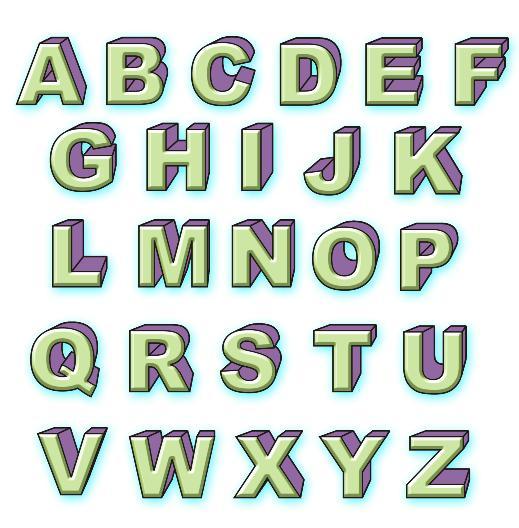 Как нарисовать красивые буквы