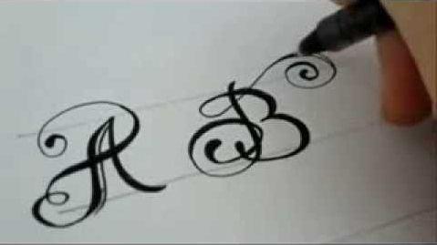 Как красиво нарисовать буквы