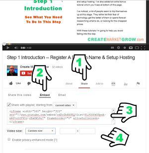 вставка видео в html с ютуба