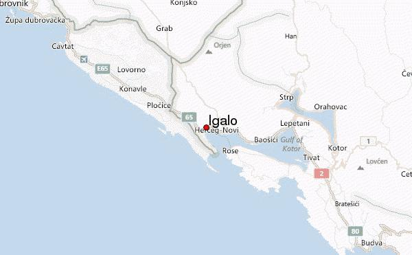 Where is Igalo, Montenegro