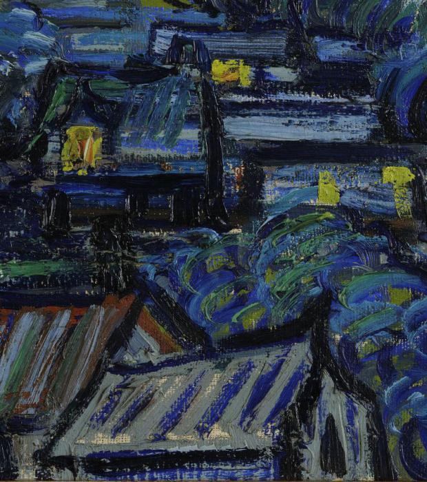 ван гог картина звездная ночь