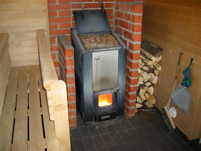 Баня установка металлической печи 104