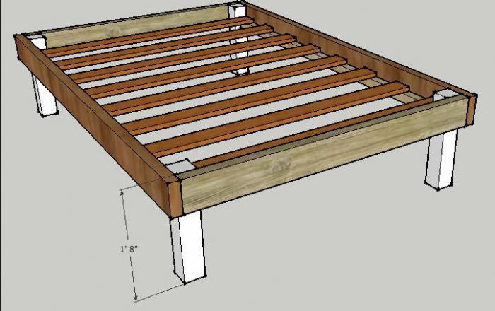 кровать двуспальная деревянная своими руками