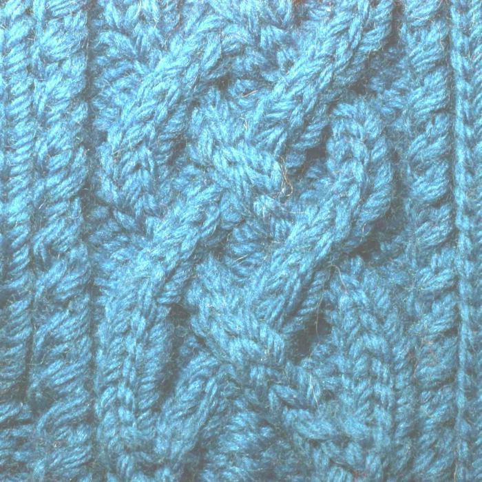 вязание изнаночной скрещенной петли