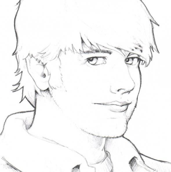 как рисовать портрет акварелью